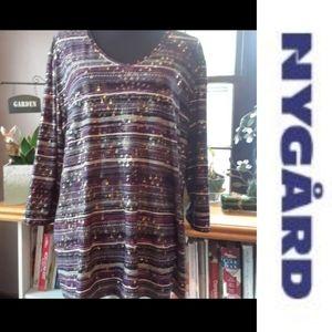 Size 2X sequences pattern dress shirt